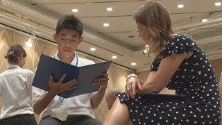 広島市の中学3年生20人が5日、平和記念式典に出席するため同市を訪...