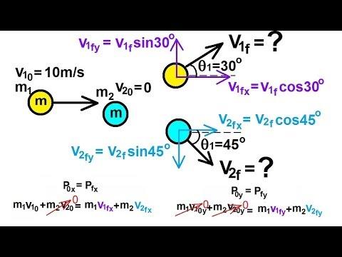 Physics: Mechanics - Conservation of Momentum (12 of 15) 2-D Elastic Collision Ex.1