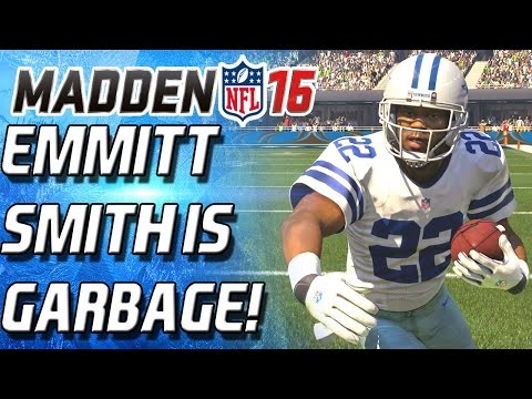 EMMITT SMITH IS TRASH!!! WORST LEGEND BACK! - Madden 16 Ultimate Team