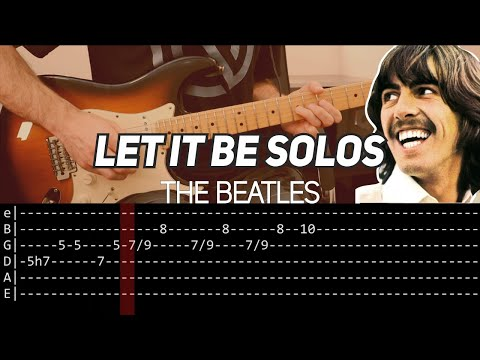 The Beatles - Let it be solos (Guitar lesson with TAB)