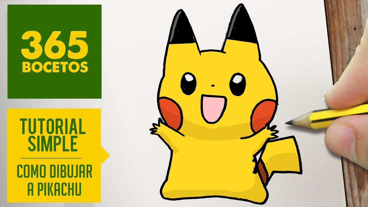 como dibujar a pikachu kawaii paso a paso   dibujos kawaii