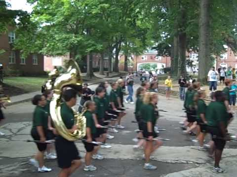 OHIO's Marching 110 - leaving East Green
