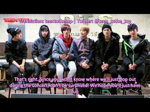 [ENG SUB] Teen Top's greeting to Naver Music