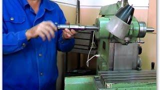 Уроки фрезерования, устанавливаем оправку на фрезерный станок