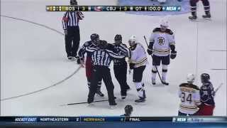 Milan Lucic dropped by Dalton Prout 11/21/14 60fps thumbnail