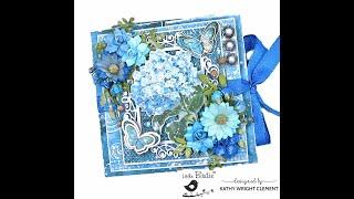 Little Birdie Crafts Aqua Medley Double Gatefold Card Tutorial