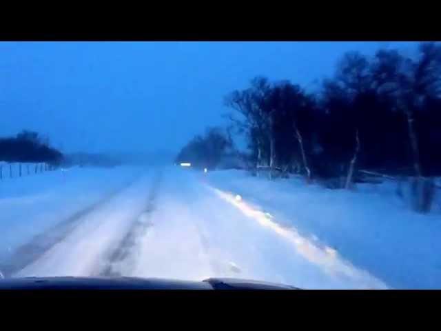 Nordkapp Vintertur 2015 - Video 22 - Lakselv til Russenes