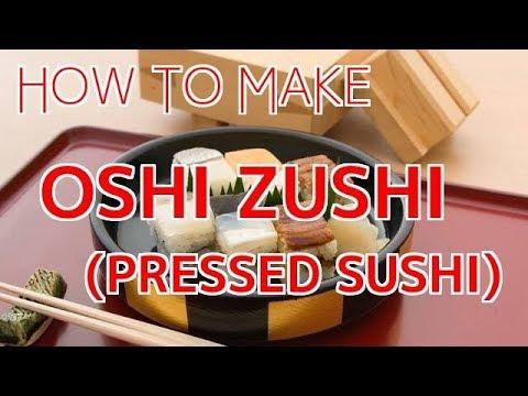 How to Make OshiZushi (Pressed Sushi) 【Sushi Chef Eye View】