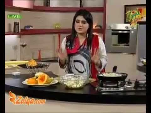 White Sauce, Beef Steak And Juicy Fruit Chaat by Ruby Taj