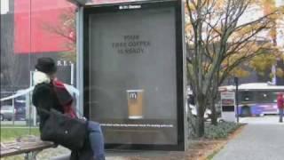 Mcdonalds Interactive CLP Bushaltestelle