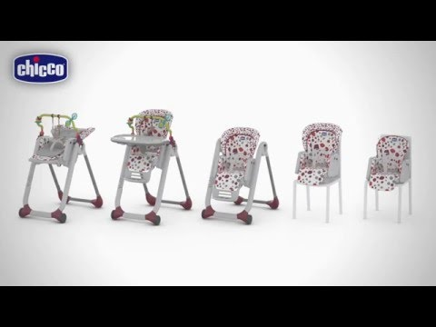 chaise haute polly progres5 de chicco youtube. Black Bedroom Furniture Sets. Home Design Ideas