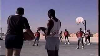King Fahd deployment with Homestead guys talking crap at a basketball game 1990