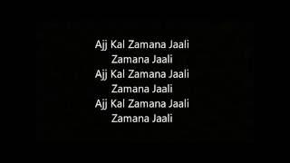 Zamana Jali Lyrics