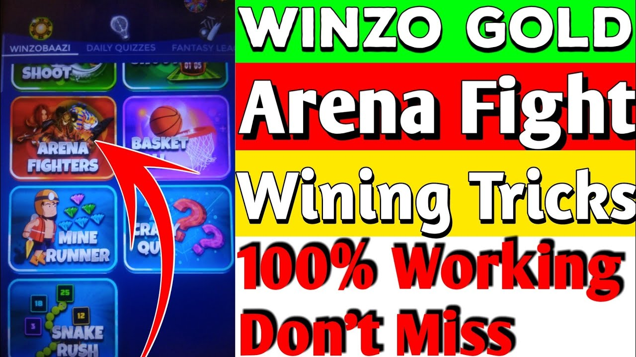 WinZo Gold Arena Fight Best Tricks To Win Everytime | WinZo Bazi Wining Tricks | TrickySK
