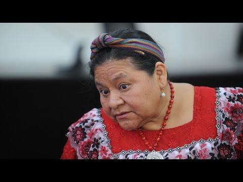 Joven cuestiona a Rigoberta Menchú sobre elecciones en Guerrero
