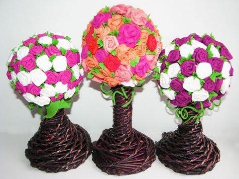 Diy paper flowers part 3 topiary youtube diy paper flowers part 3 topiary mightylinksfo