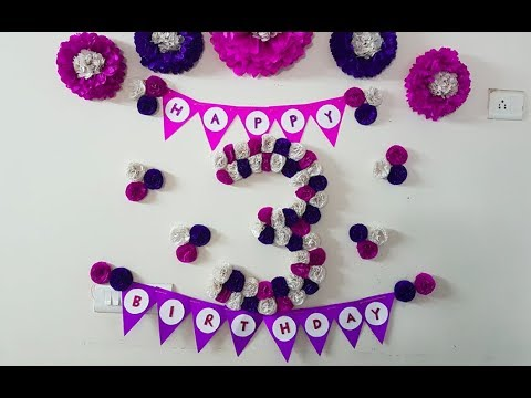 DIY 3D Floral Number for Birthday/Anniversary - Birthday Decoration with Tissue Paper Flowers