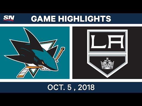 NHL Highlights | Sharks vs. Kings - Oct. 5, 2018