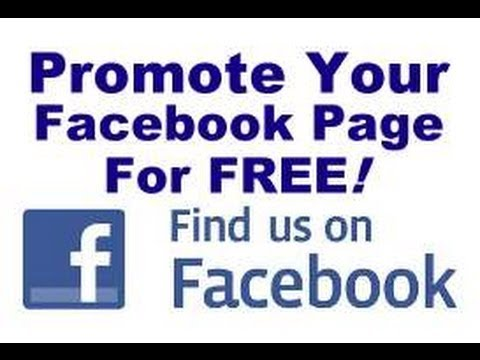 how to promote facebook page free of cost