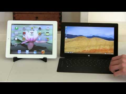 iPad with Retina Display vs Microsoft Surface RT Tablet Comparison Smackdown