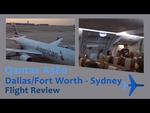 DFW - SYD Qantas A380 Economy Flight Review [Upper Deck]
