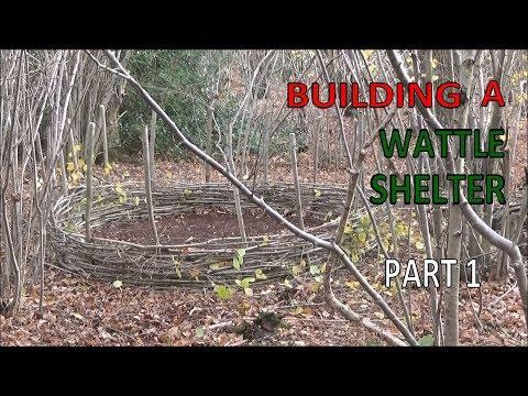 Bushcraft Wattle Shelter Part 1