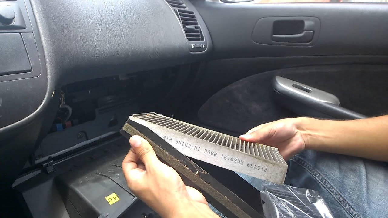 change cabin air filter on 2000-05 civic - YouTube