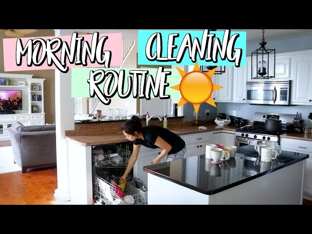 MORNING DAILY CLEANING ROUTINE AND TIPS ON HOW TO KEEP YOUR HOME CLEAN