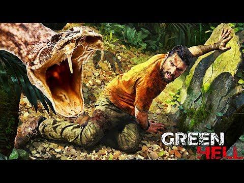 ATTAQUÉ PAR LE SERPENT LE PLUS DANGEREUX ! | Green Hell #Ep2