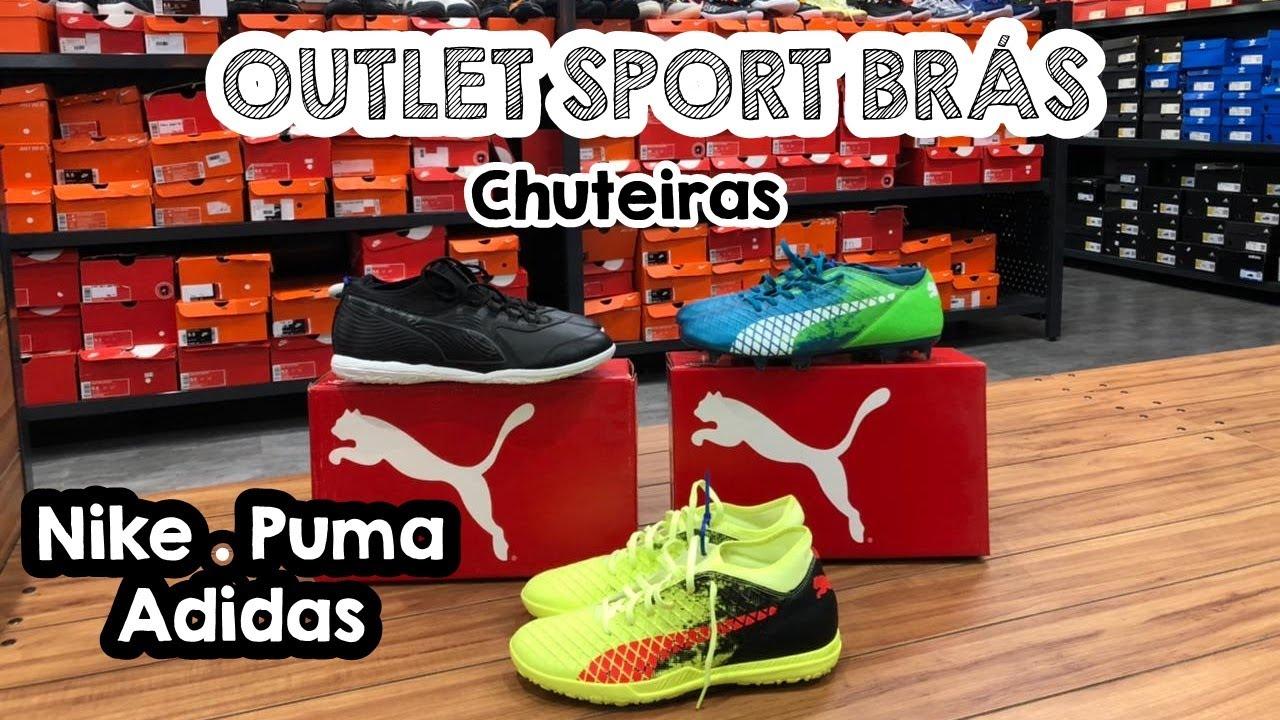 SPORT BRÁS OUTLET - CHUTEIRAS - CAMPO - SALÃO - SOCIETY - CHUTEIRA MUITO BARATO - NIKE CR7 - PUMA