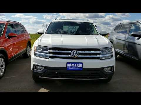 2018 VW Atlas SEL Premium with bucket seats (white with black)