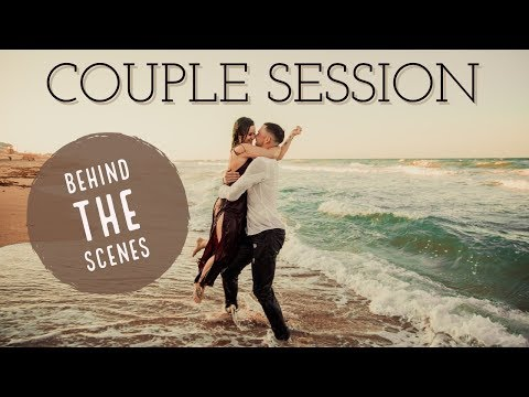 Couple Session On The Beach | BEHIND THE SCENES PHOTO SHOOT