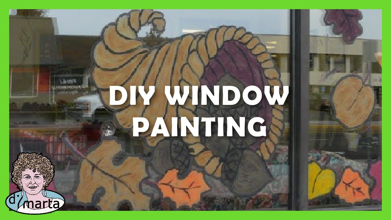 How to do window painting como pintar uma vitrine youtube for Acrylic vs glass windows