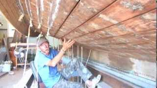 Wooden Boat Repair-dry Hull Caulking 5