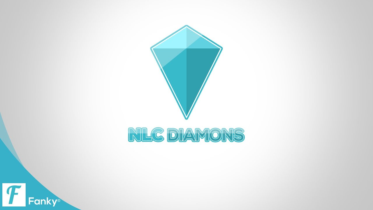 diamond gemstone logo illustration blue vector jewelry image style stock photo polygon
