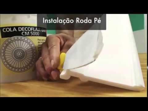 CORTAR, COLAR, FIXAR, MOLDURAS, RODAPÉS DE ISOPOR - GART (11) 3481-0910