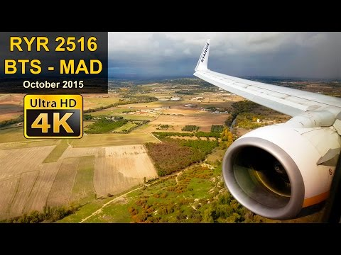 Flight Experience | Bratislava - Madrid | RYANAIR Full Flight