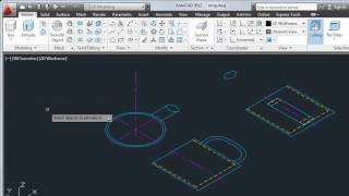 Convert 2D Objects to 3D — AutoCAD 2012