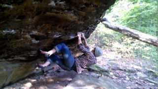 WATCH IN HD*** AJ HIGGINS climbing a rock that all you pussys think...