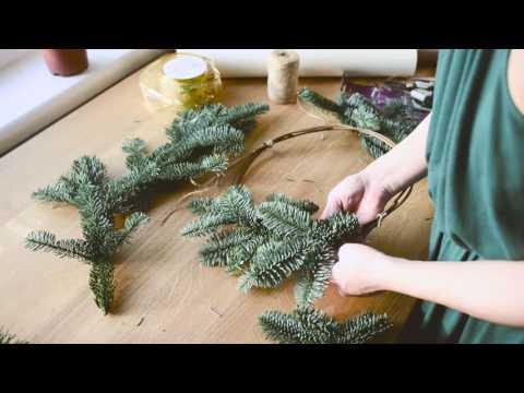 Как сделать новогодний венок своими руками пошаговая инструкция