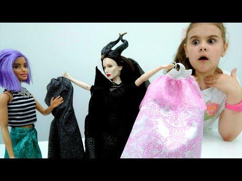 Мультики для девочек: #Барби в стране сказочных принцесс Диснея! Показ мод. Игры #одевалки