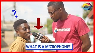 What is a MICROPHONE? | Street Quiz | Funny Videos | Funny African Videos | African Comedy
