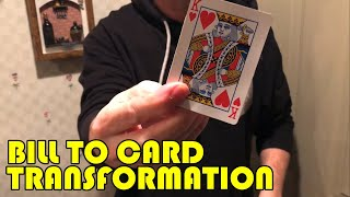Super Visual Bill to Card Transformation