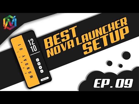 Flat Yellow | Professional | Best Nova Launcher Setup - EP. 09 | KWGT | TechWidNik