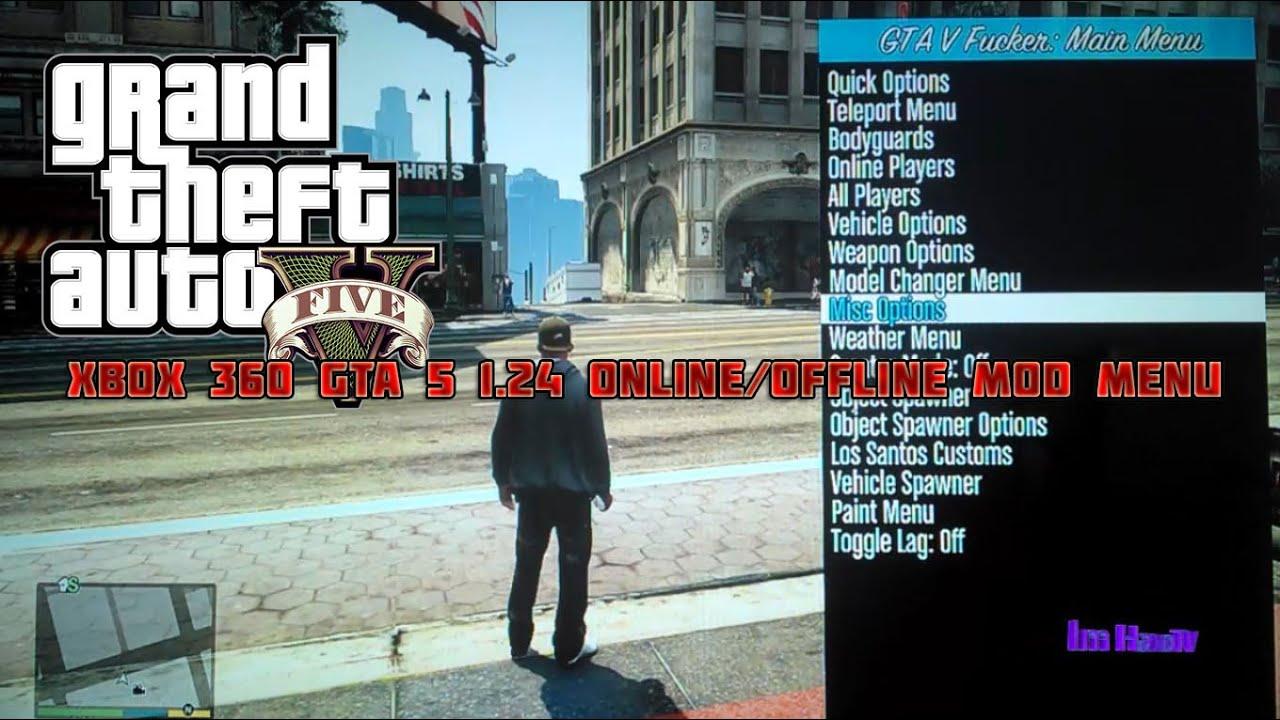 Xbox 360 GTA 5 1.24 Online/Offline Mod Menu + Download ...