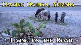 Leaving Oatman - Living on the Road