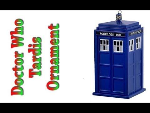 Doctor Who Tardis Christmas Tree Ornament - YouTube