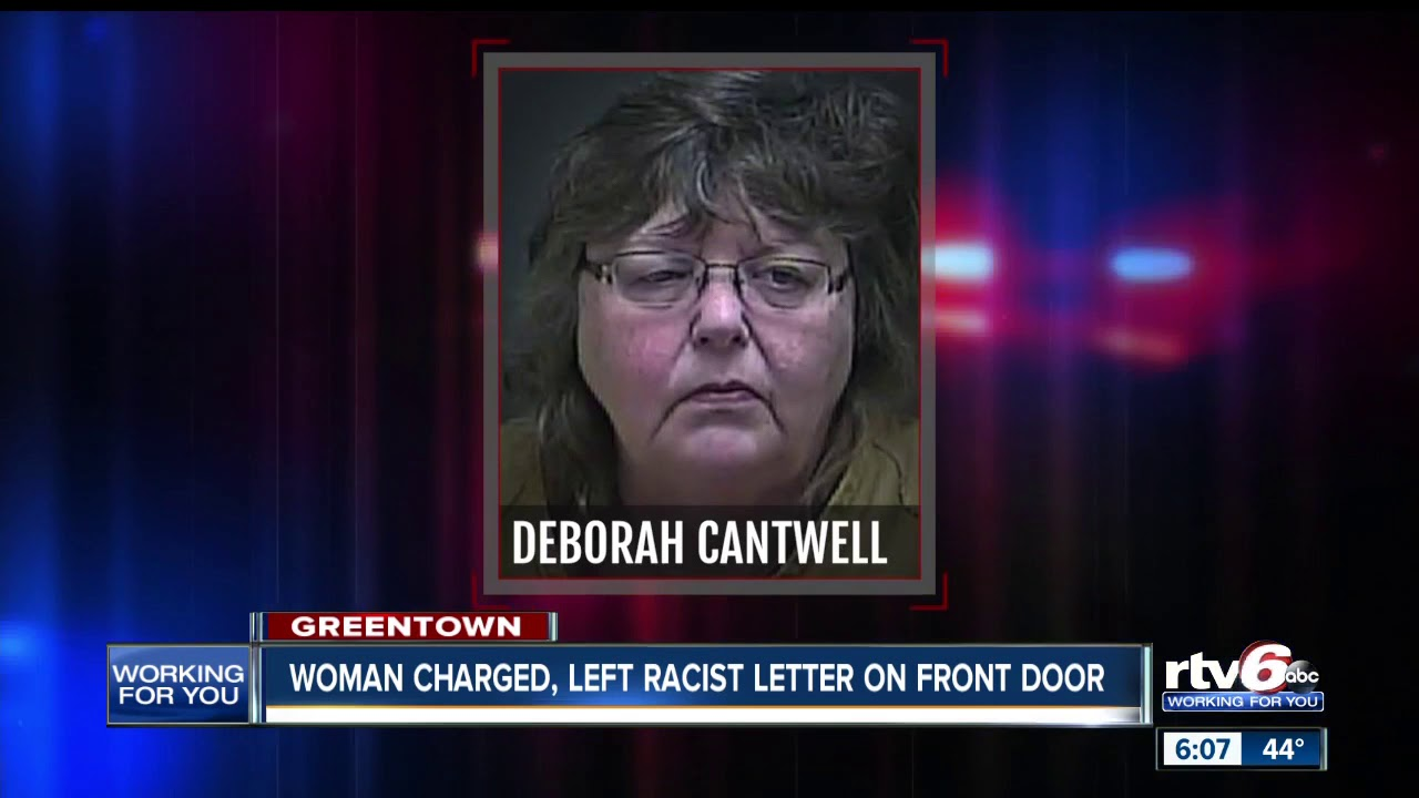 Woman accused of leaving racist letter on front door of neighbors home