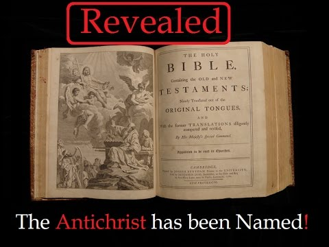 The Antichrist has been NAMED and