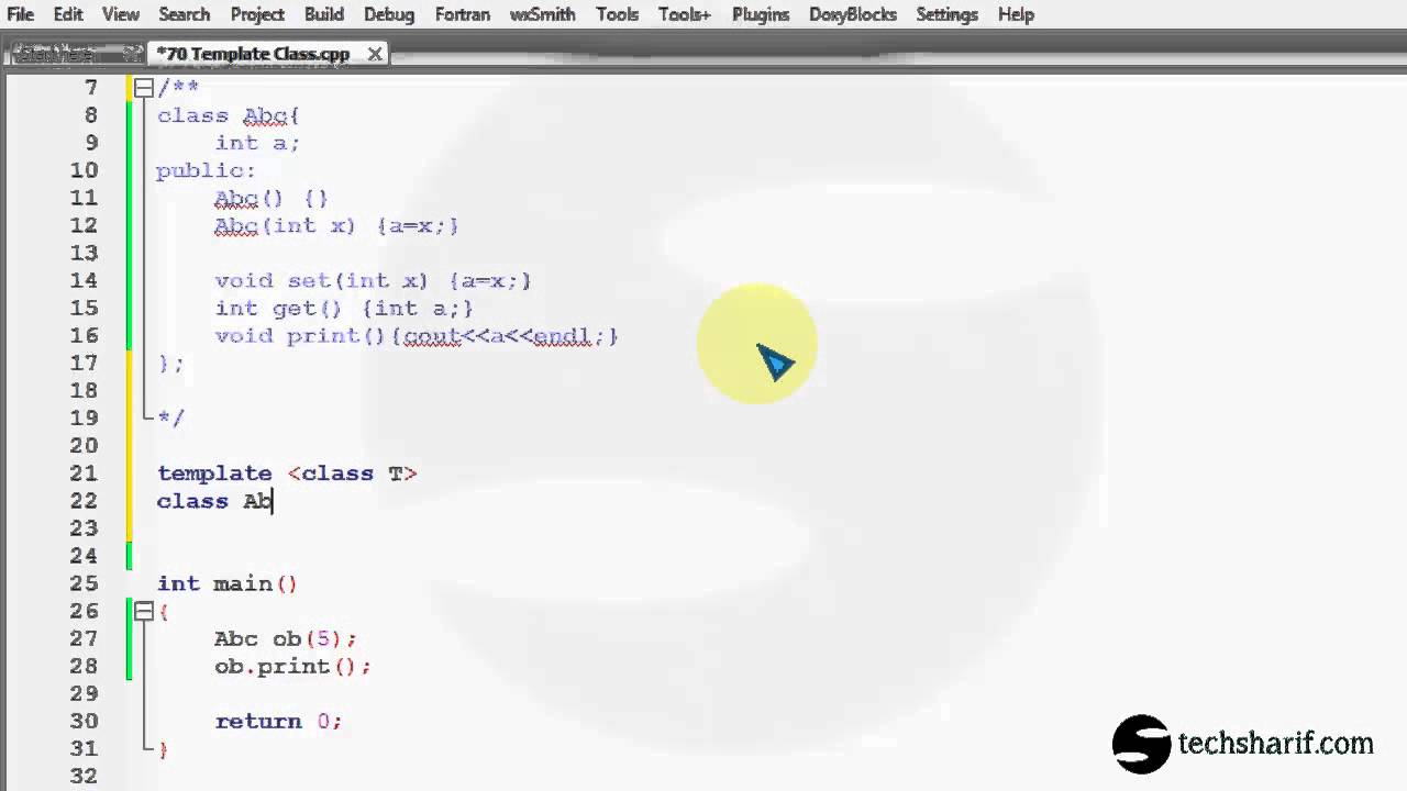 bangla c++ video tutorial 70 Template Class - YouTube